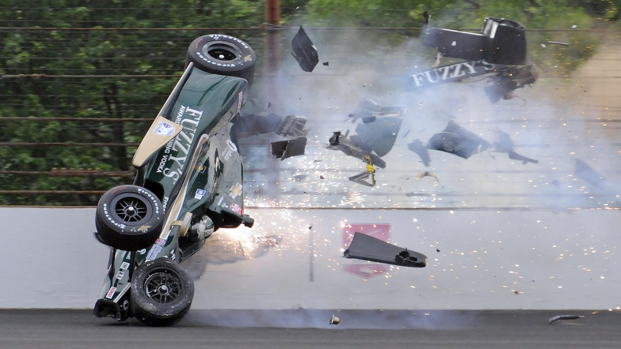 Best Cars 2018 >> Ed Carpenter crashes at Indianapolis Motor Speedway - Chicago Tribune