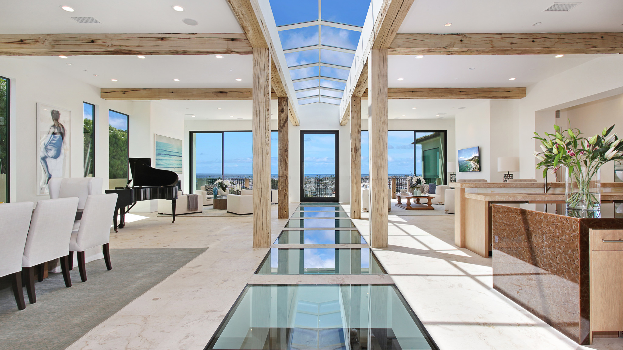 Home of the day glass floors and ocean views in corona for 1111 dolphin terrace corona del mar