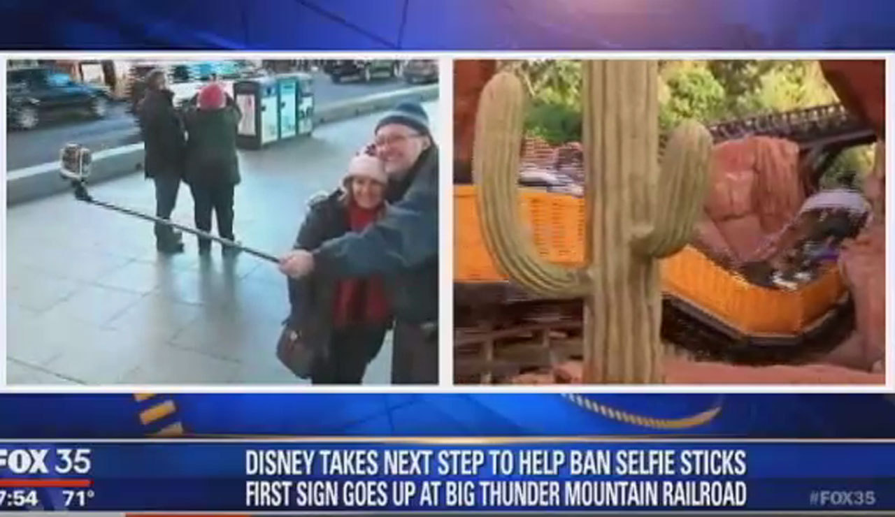 disney takes steps to ban selfie sticks chicago tribune. Black Bedroom Furniture Sets. Home Design Ideas