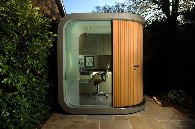small prefabs as backyard offices la times
