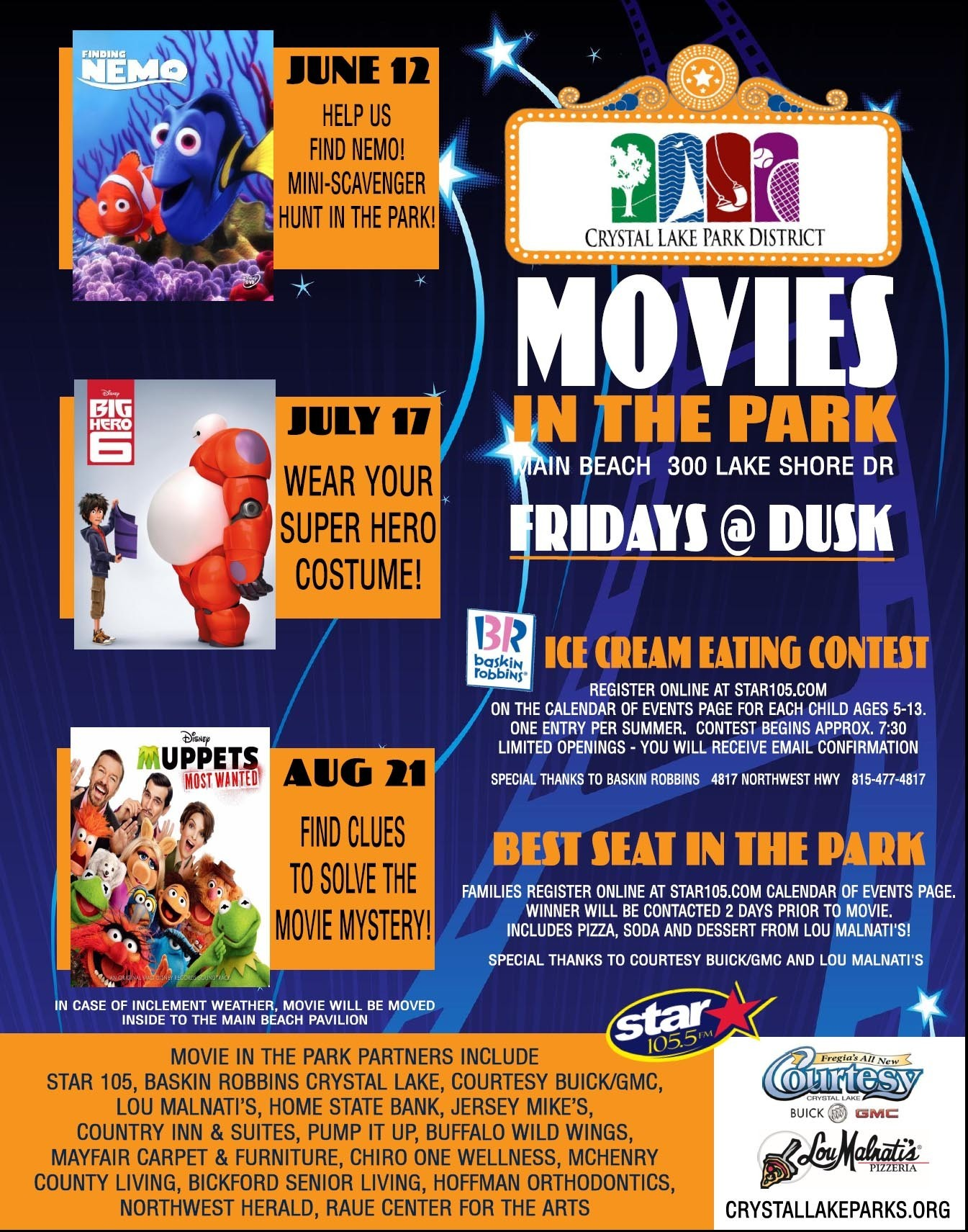 Time To Enter Contests At The Crystal Lake Park District Movies In The Park   Featuring The Movie U0027Finding Nemou0027 On June 12    Elgin Courier News