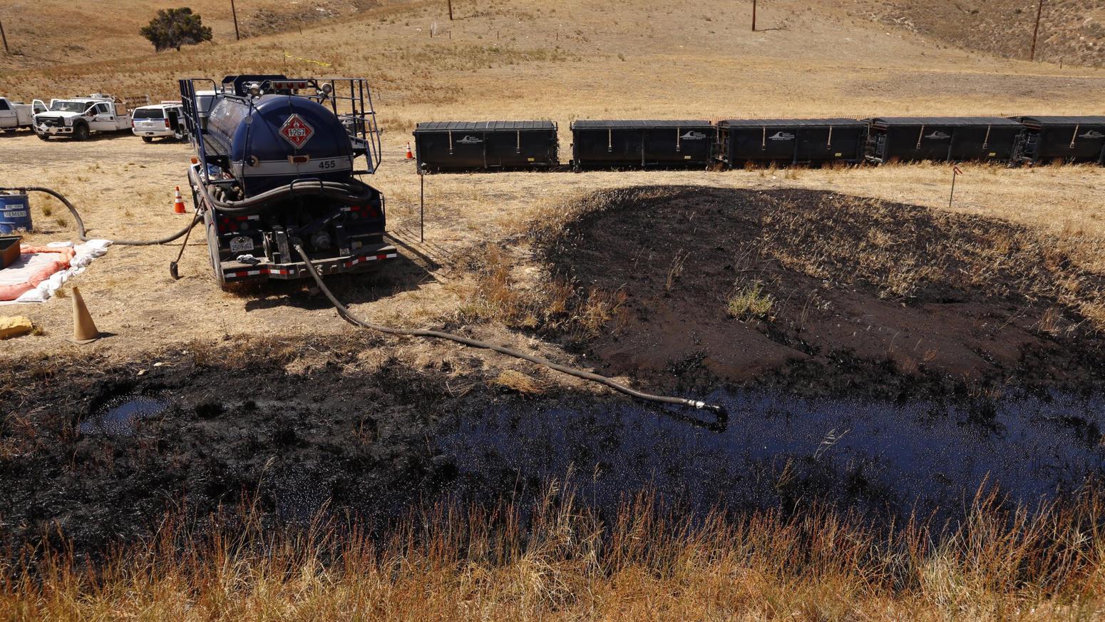 Oil spill off Santa Barbara coast