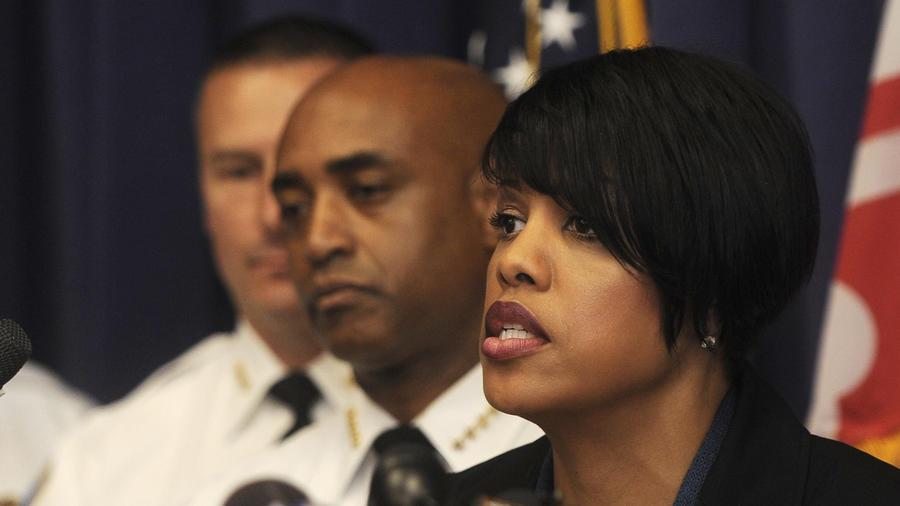 Mayor Mayor Stephanie Rawlings-Blake and Police Commissioner Anthony Batts
