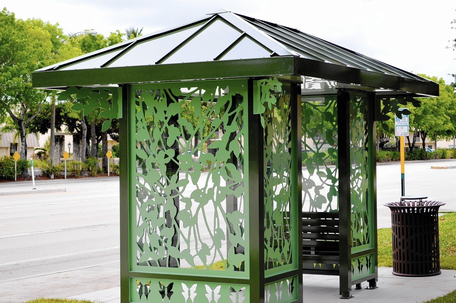 Public transportation: Palm Tran bus shelters get artsy in Palm ...