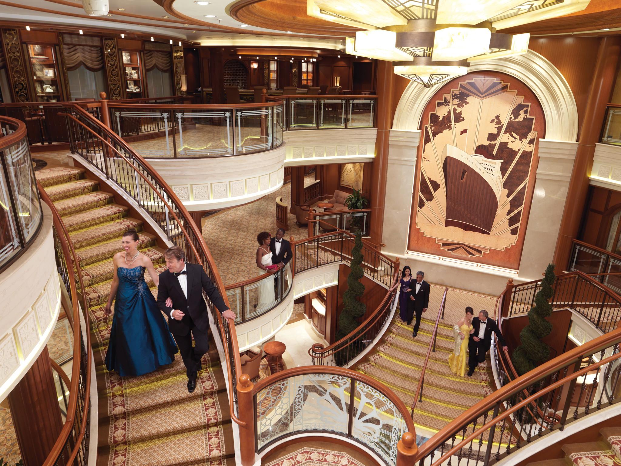 Cunard S 175th Birthday Blowout A 3 Ship River Dance In