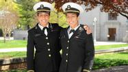 Naval Academy Graduation: Odenton twins split up
