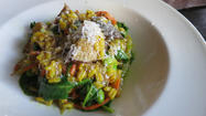The Vegetarian Option: Though known for meat, Corner Charcuterie Bar offers plenty of treats