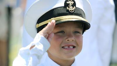 Scoring a cap and a $20 after the Naval Academy hat toss