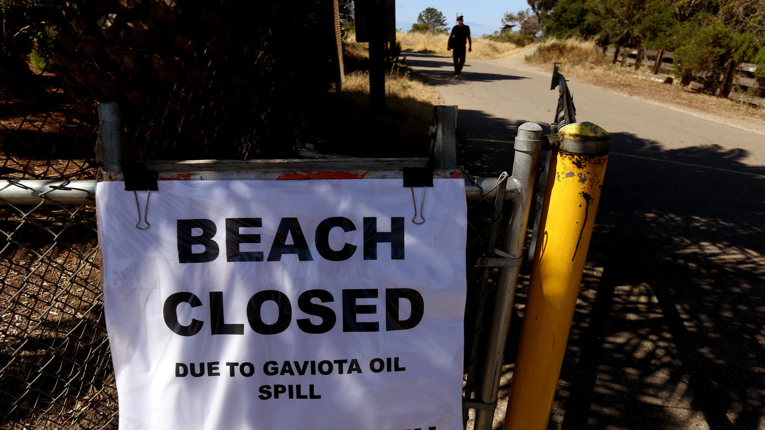Oil spill on Santa Barbara County coast