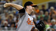 Brian Matusz tossed for using 'foreign substance,' then Orioles lose to Marlins in 13 innings, 1-0