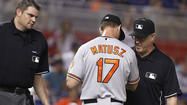 Orioles reliever Brian Matusz ejected in 12th inning for 'foreign substance'