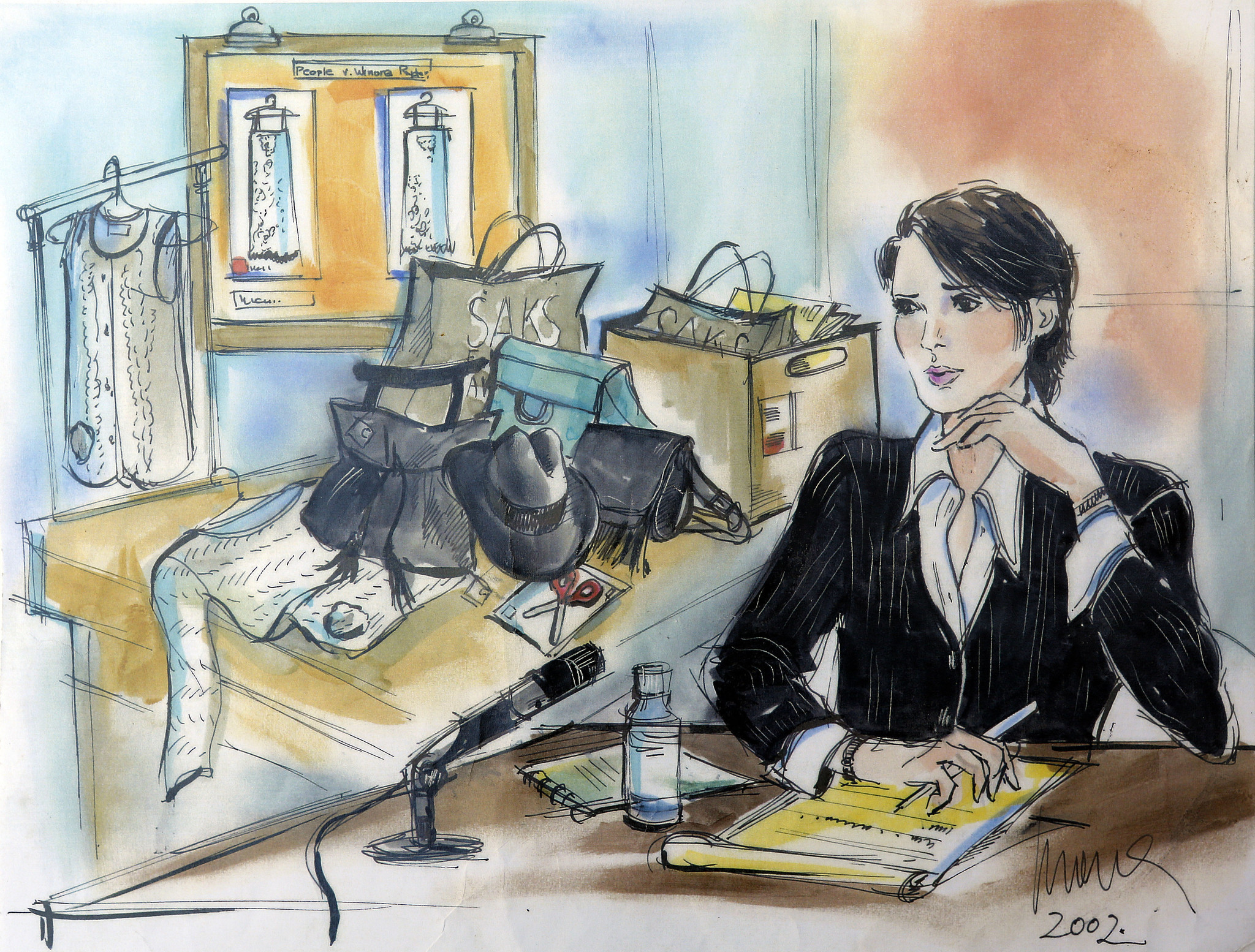 Evidence may be sketchy, but not this courtroom artist's drawings