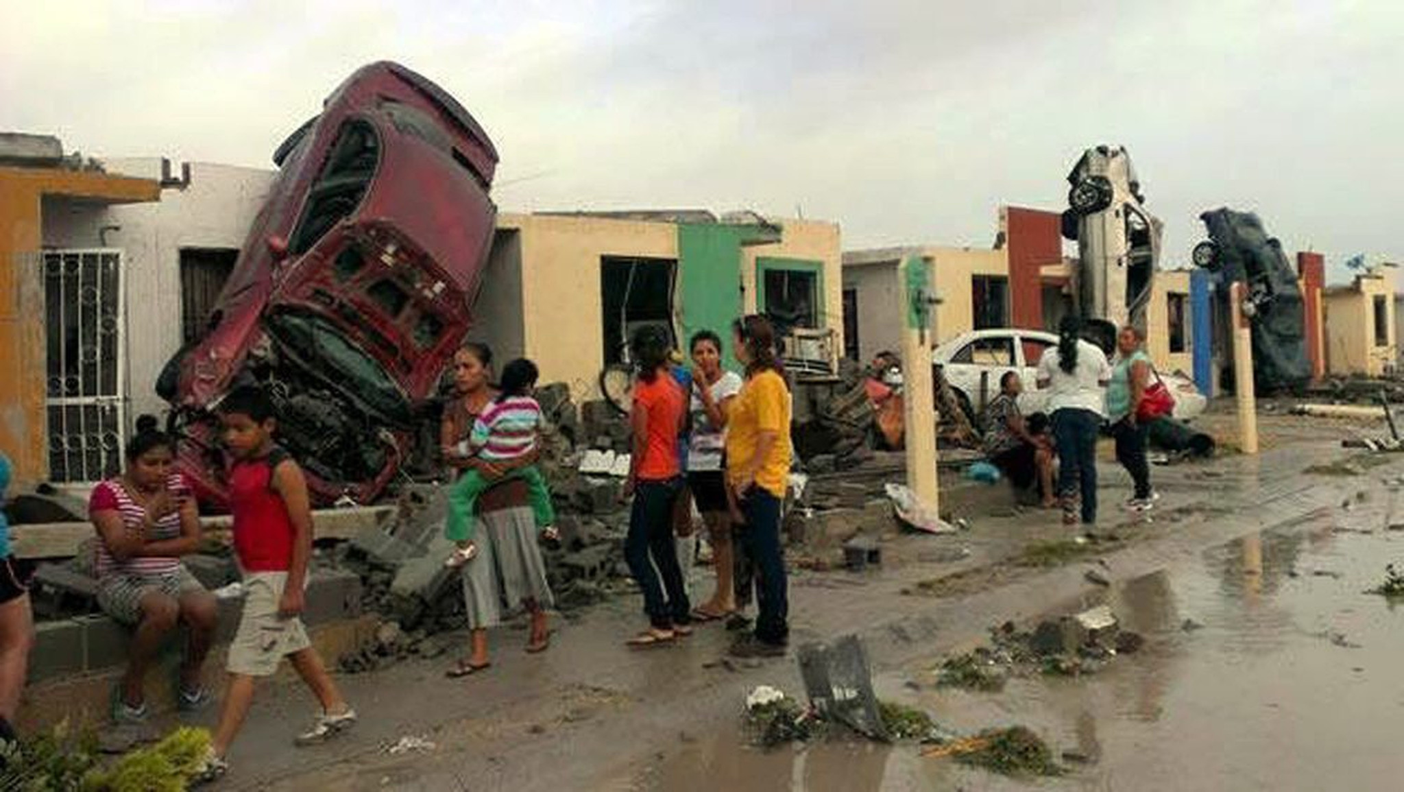 Texas Home With  Inside Swept Away  Die In Mexico Tornado - Chicago flooding map