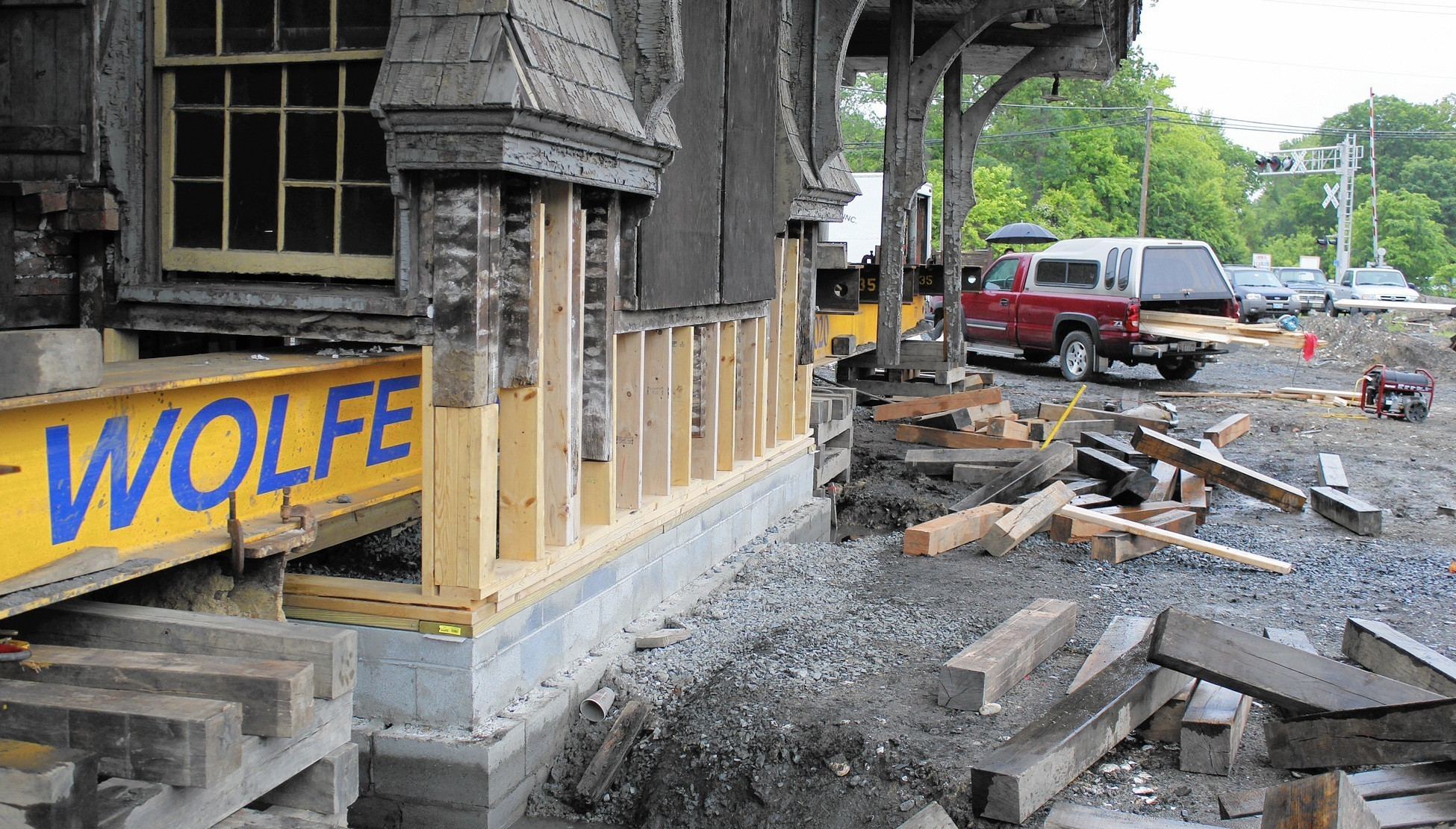 Old Aberdeen B&O train station settled into new foundation ...