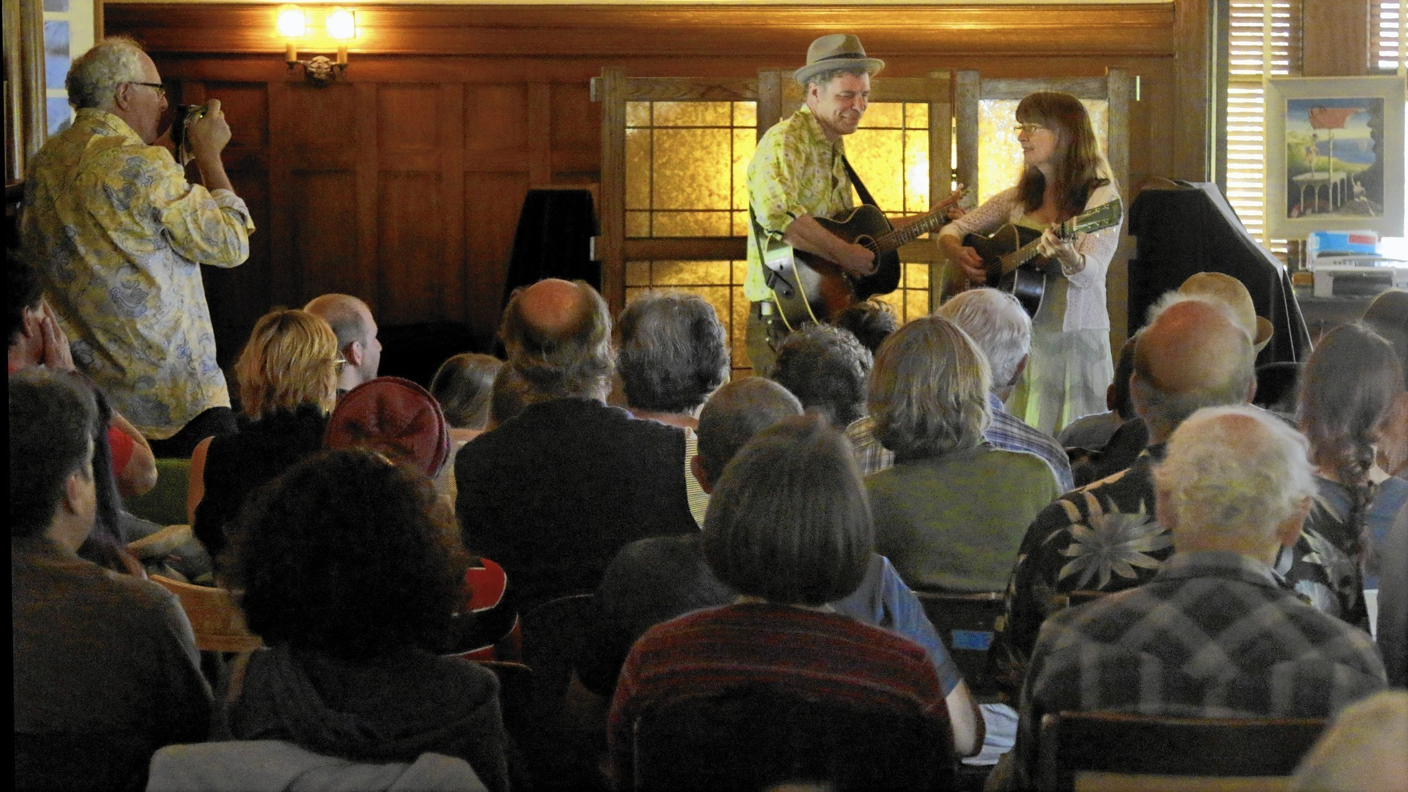 Old-time music at a ranch? It's an American idyll