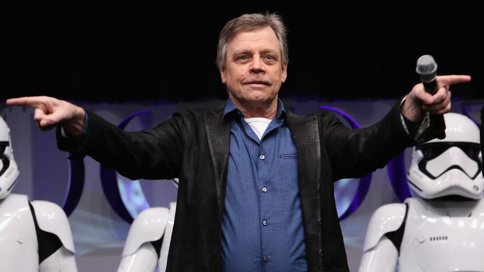 """Mark Hamill at the opening of """"Star Wars Celebration"""" in Anaheim in 2015. (Jesse Grant / Getty Images for Disney)"""