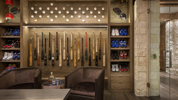 Walls Of Glass Frame The Trophy Case Inside Gary Matthews Jrs Orange County Home Redfin