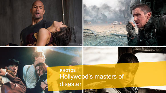 """<p>In the new """"San Andreas,"""" Dwayne Johnson faces an earthquake. He's not the first bigstar to contend with disaster on the big screen.Whatever mayhem or apocalyptic catastrophes you throw at them -- be it volcanoes, floods, zombies or killer cyborgs -- here are some Hollywood stars who are ready for anything.</p>"""