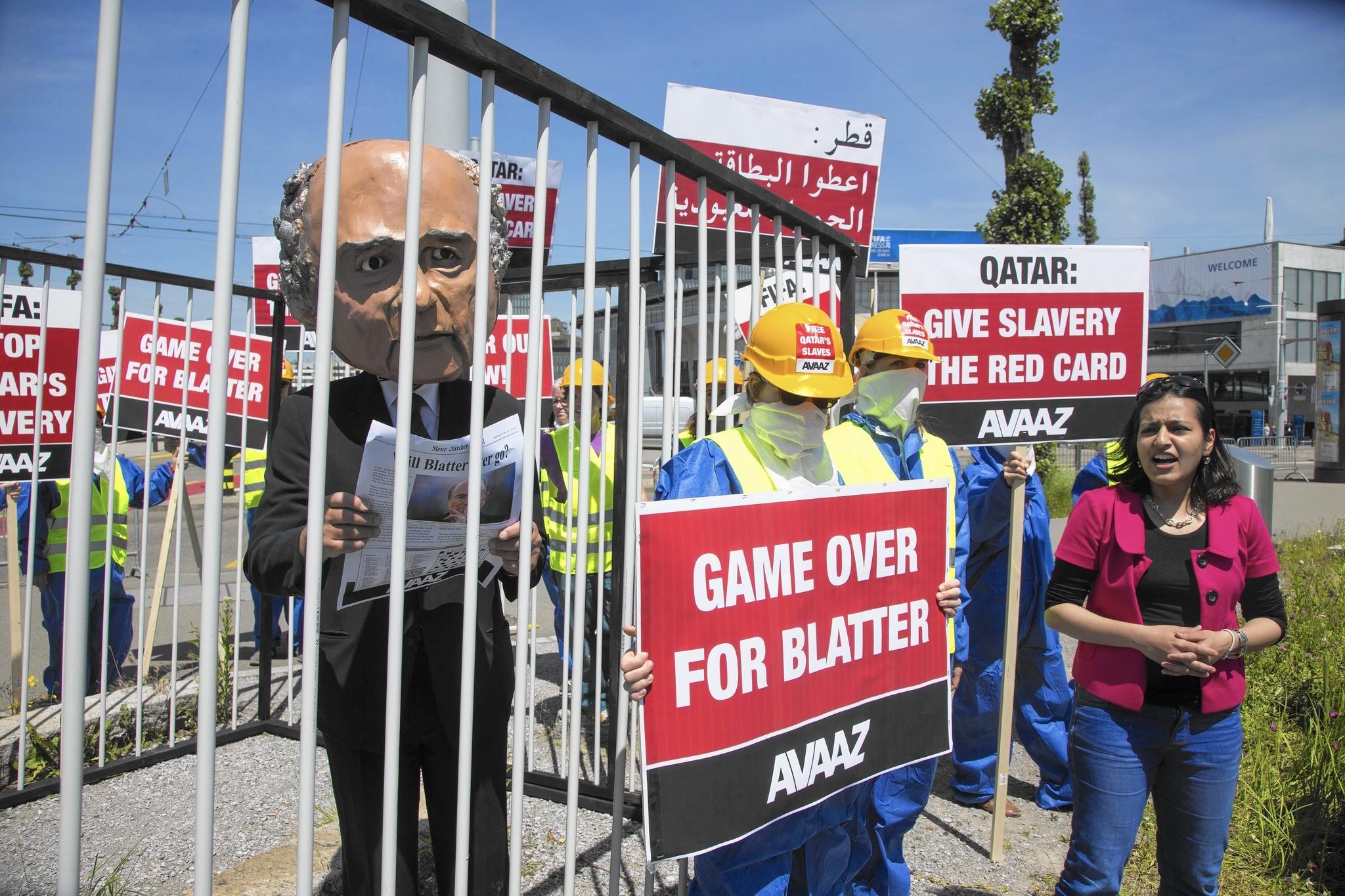 FIFA President Sepp Blatter faces growing pressure to resign