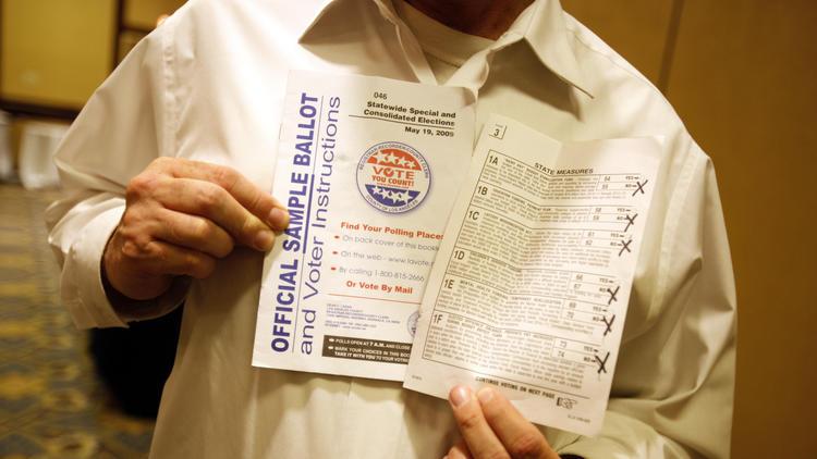 A California ballot