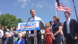 Facing long odds, O'Malley enters race for president