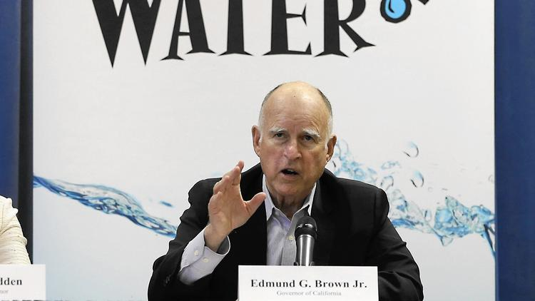 Gov. Jerry Brown water cuts
