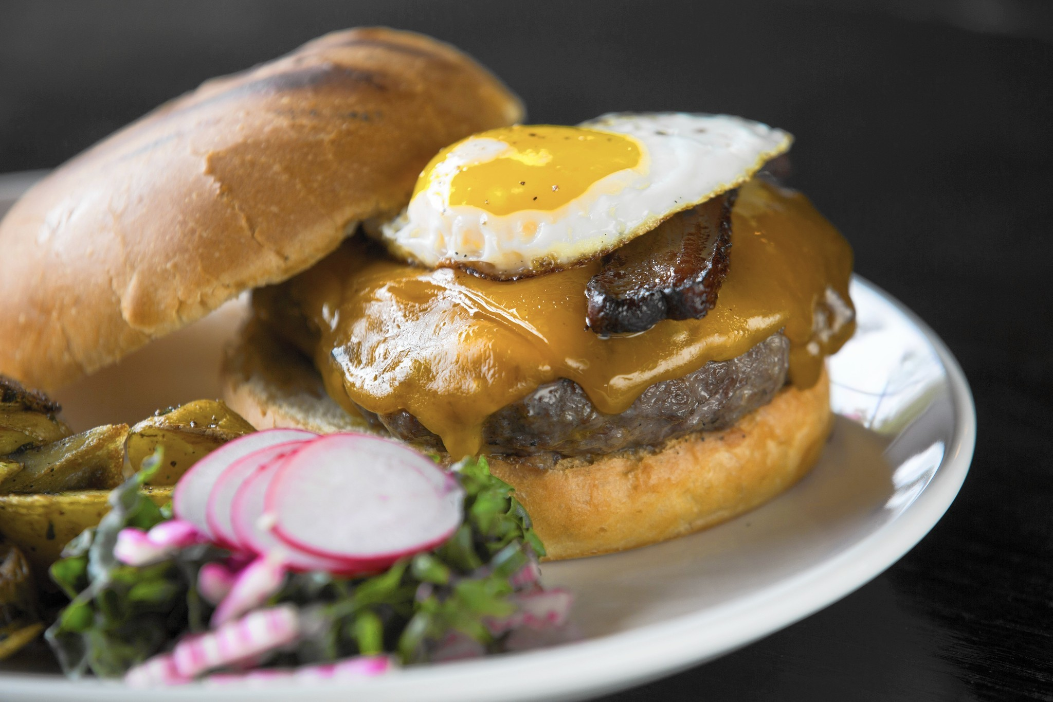 Brunch burger at Fountainhead is one of Chicago's best