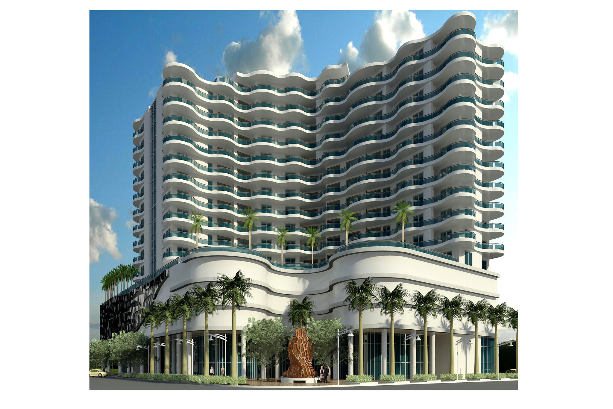 Downtown Hollywood Scores One Curvy Condo Tower Sun Sentinel