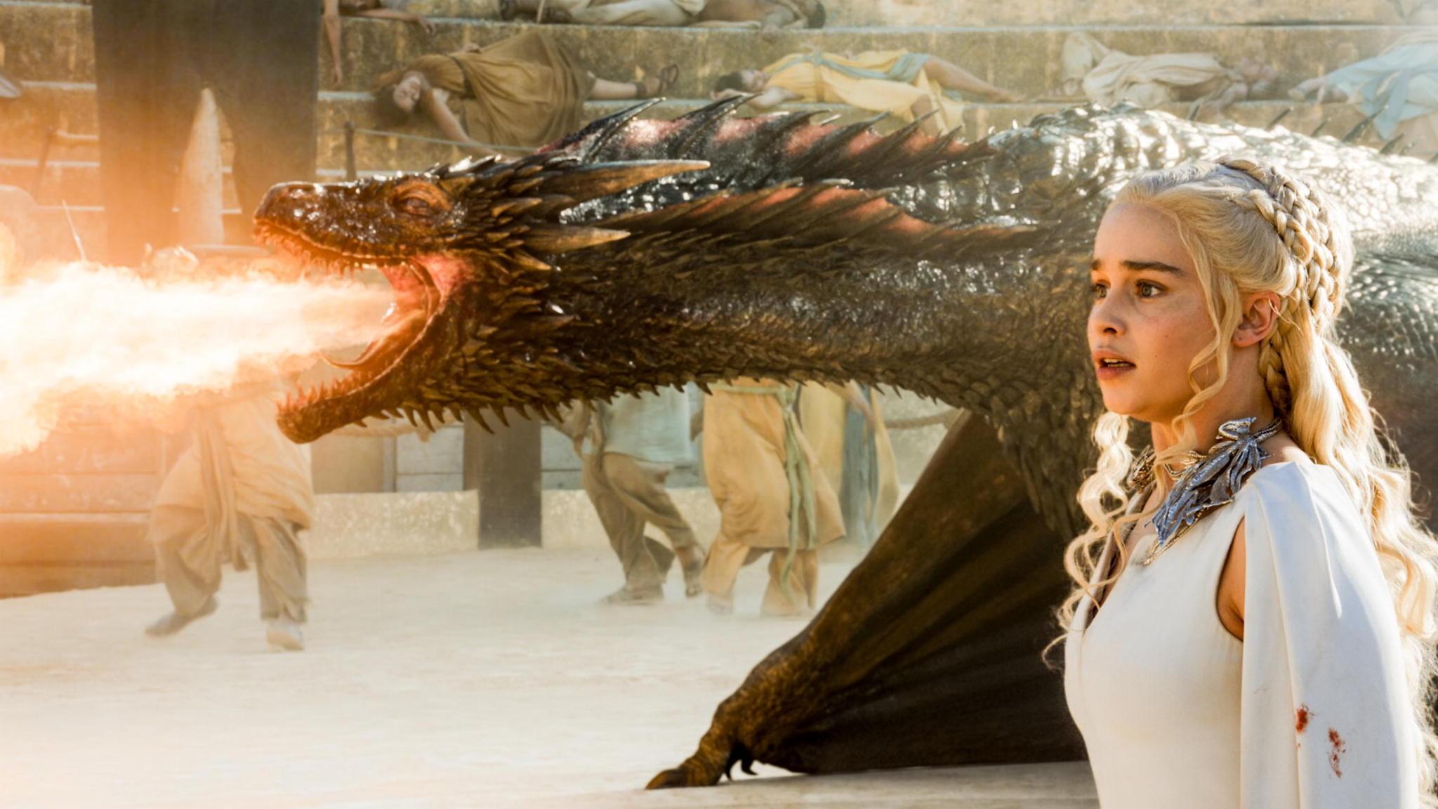 'Game of Thrones' recap: Fiery action as Season 5 nears ...  Game Of Thrones Dragons Season 5