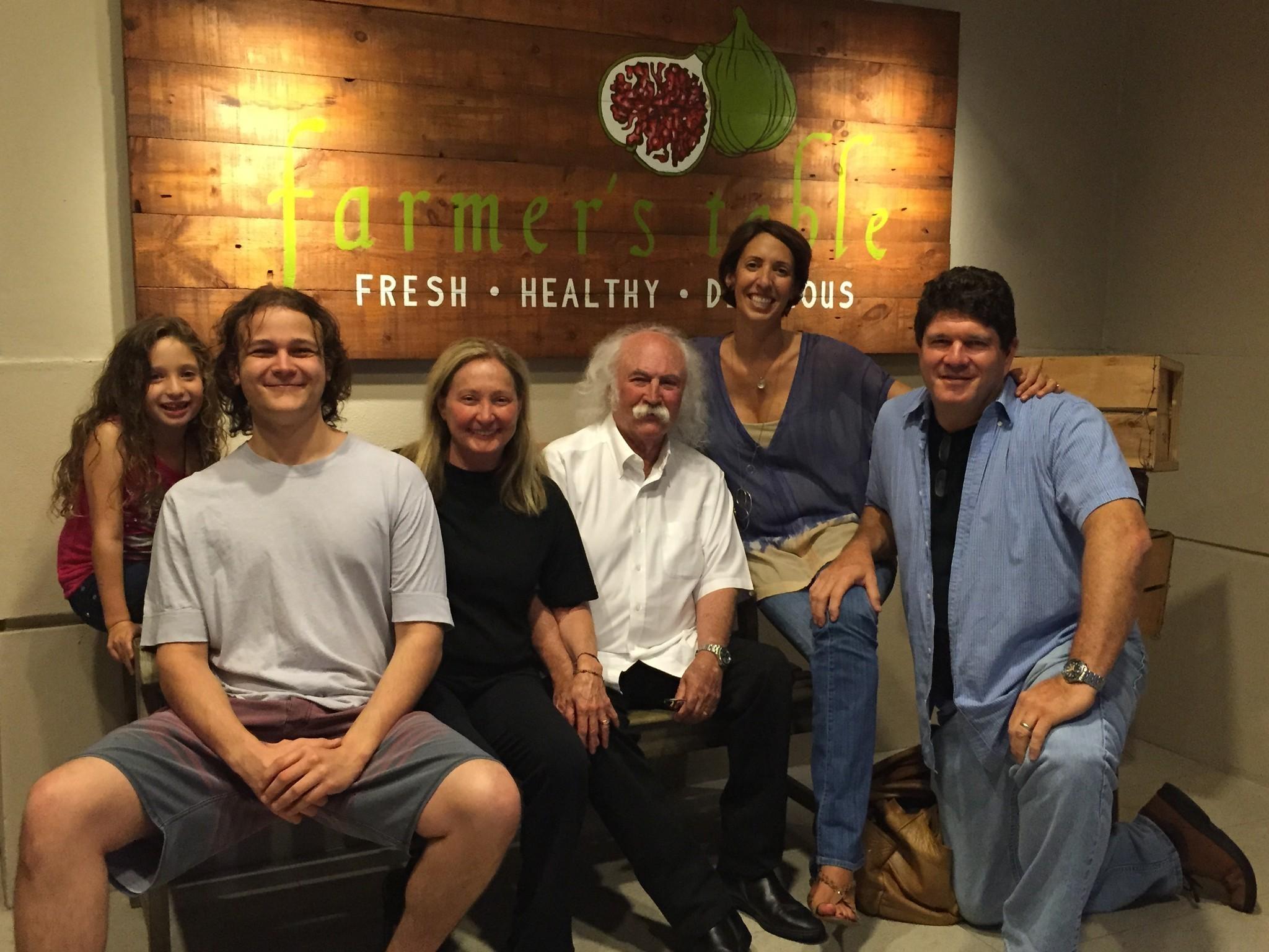 David Crosby dines at Farmer s Table southflorida