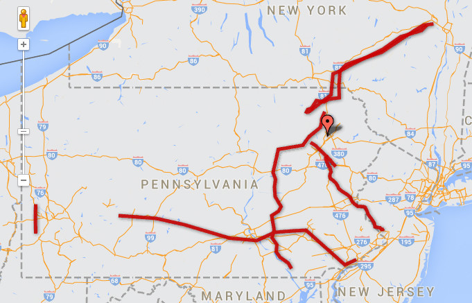 PA Proposed Natural Gas Pipeline Map Lehigh Valley Business Cycle - Pa map