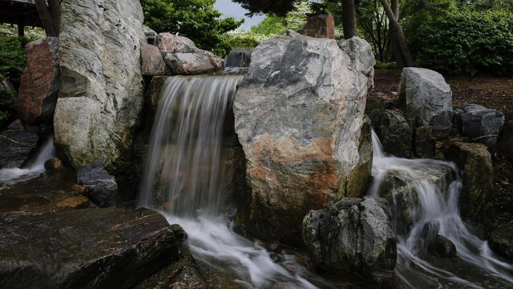 Osaka Garden waterfall