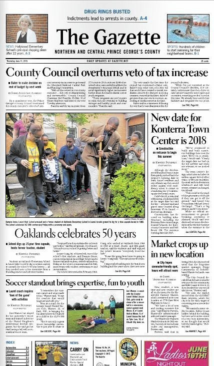 Washington Area Gazette Newspapers Folding Bowie Blade News