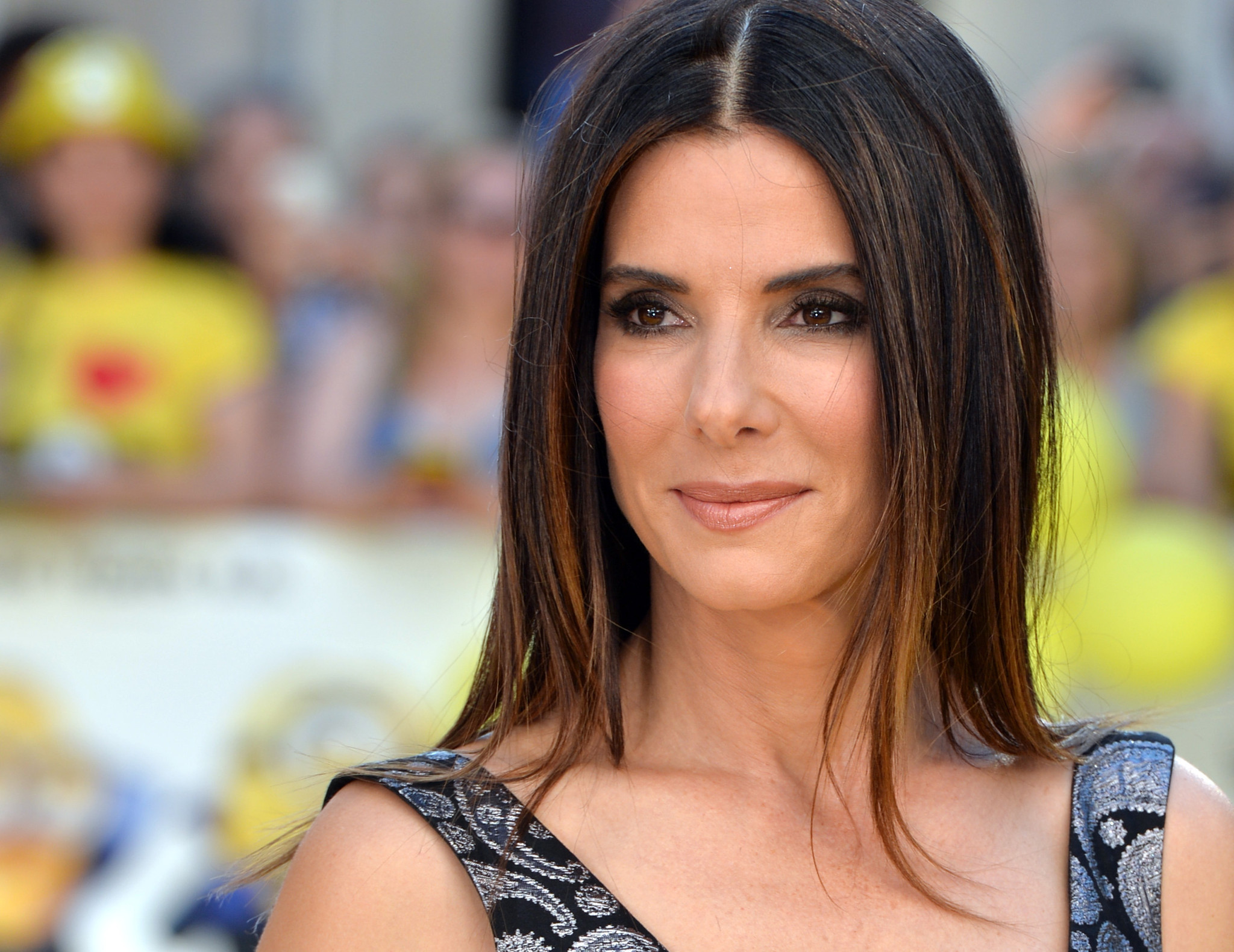 <b>Sandra Bullock</b> returns to the limelight at 'Minions' world premiere - LA ... - la-et-mg-sandra-bullock-minions-premiere-red-carpet-20150612
