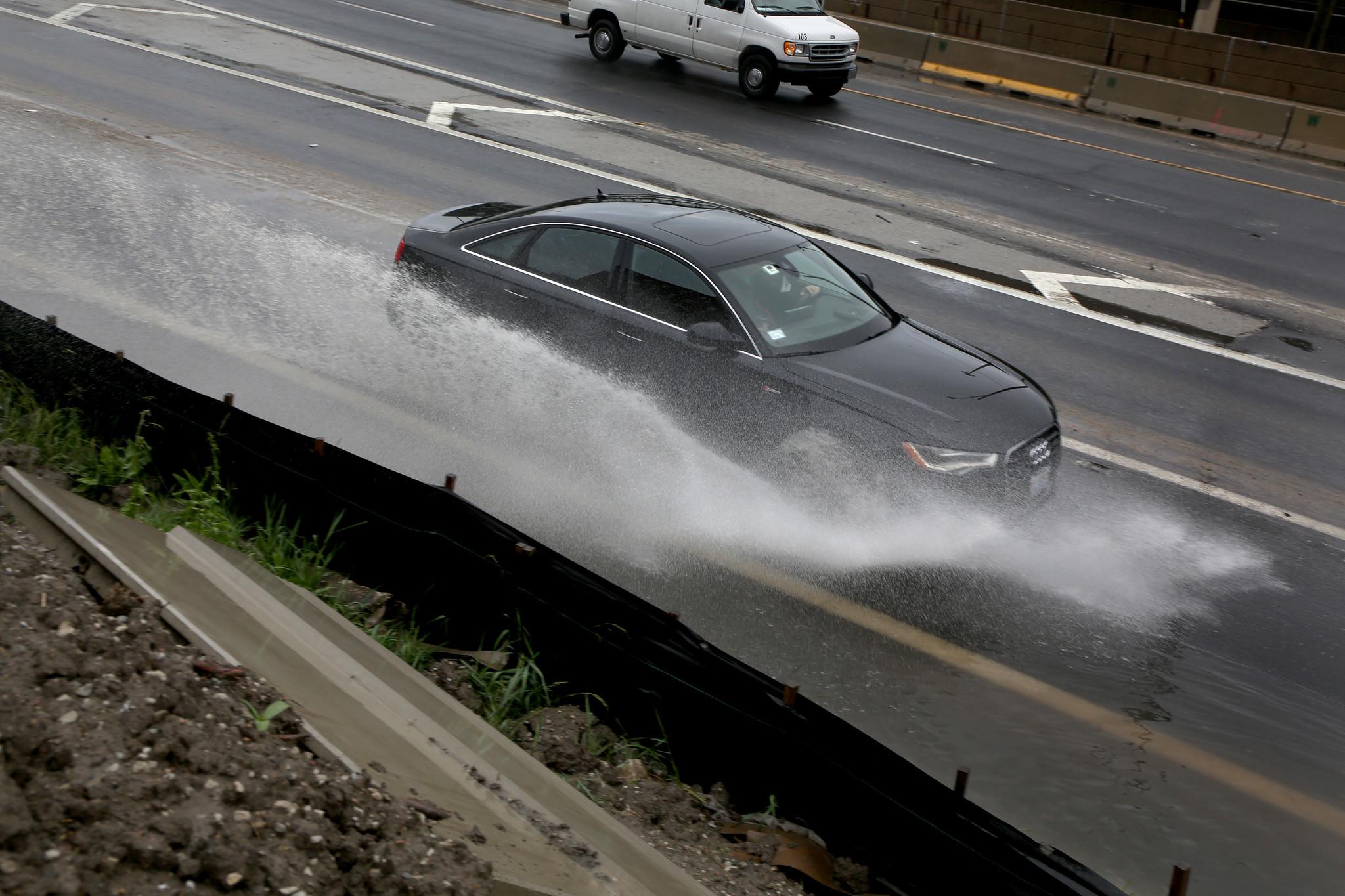 scene car automobile sunset interior sinking instainterior damage water us in