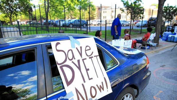 Protesting to save Dyett