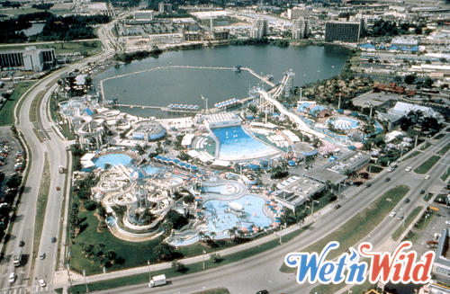 <p>Wet 'n Wild on International Drive in Orlando opened in 1977. Universal Orlando, which owns the park, announced it will be closing it in 2016. Universal is opening its own water park, Volcano Bay. This aerial view is from 2005.</p>