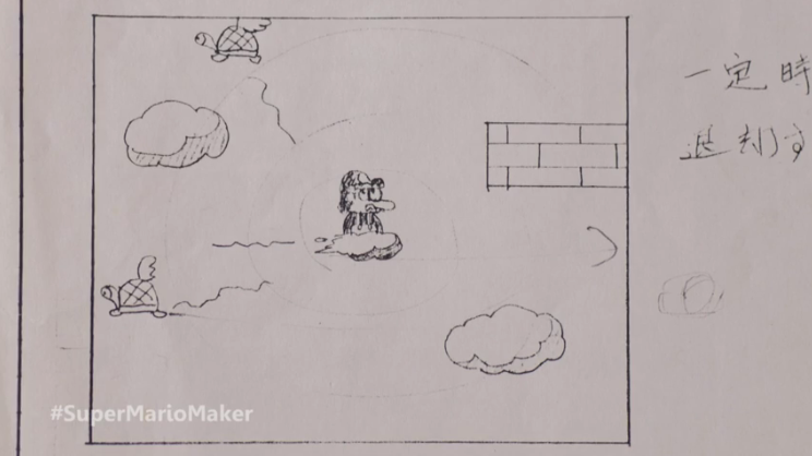 see the graph paper sketches that became  u0026 39 super mario bros