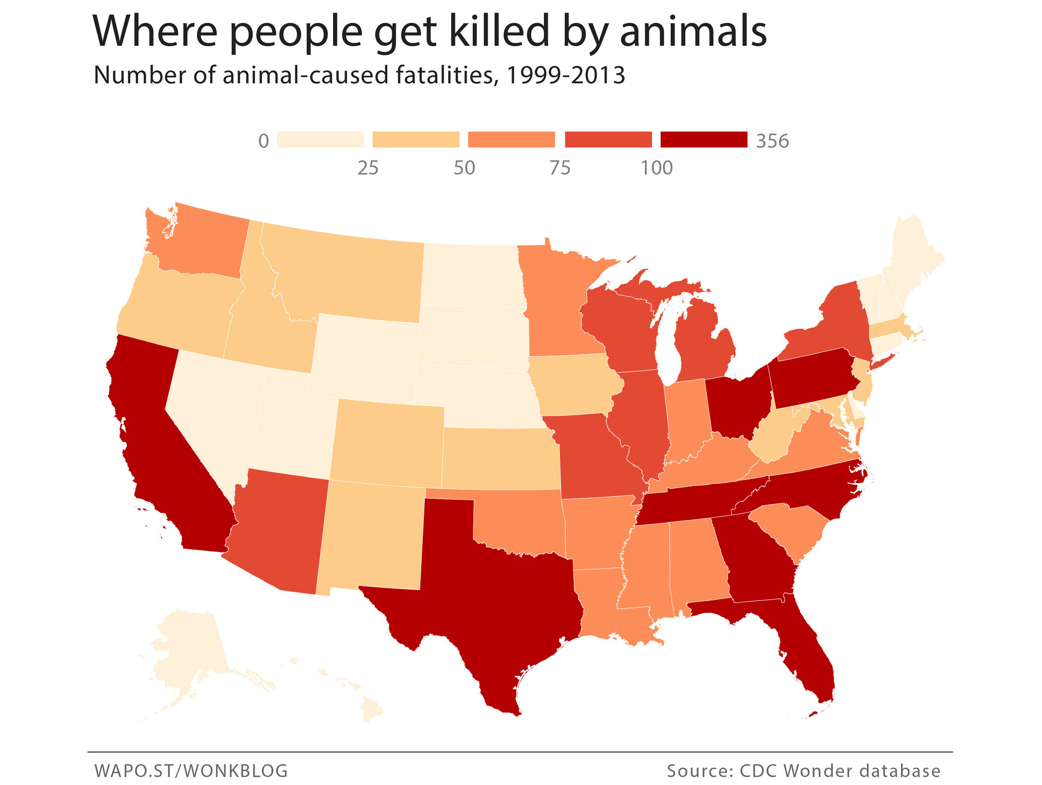 Where Youre Most Likely To Get Killed By Animals This Summer - Map of poisonous snakes in us
