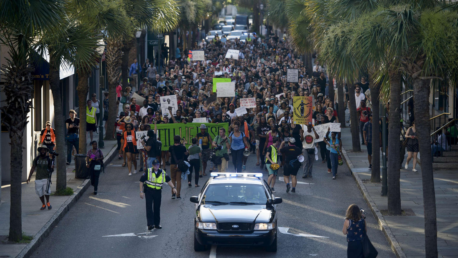 Protest in Charleston, S.C.
