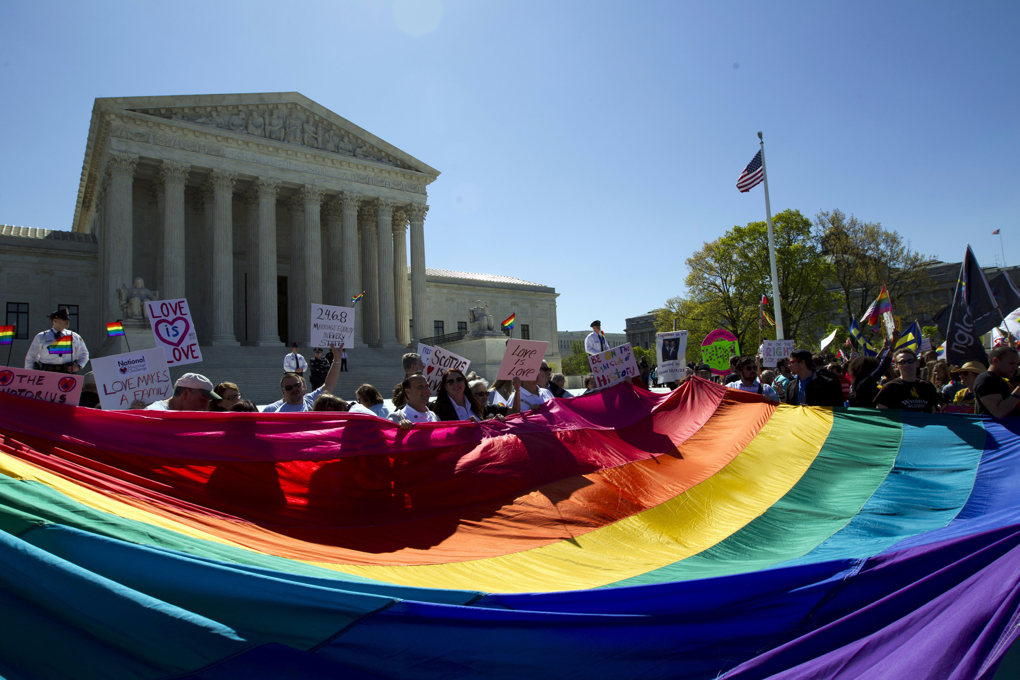 Couples, officials, foes readying for U.S. gay marriage ruling