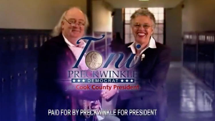 Video: Preckwinkle's 'Penny saved is a penny earned' campaign ad