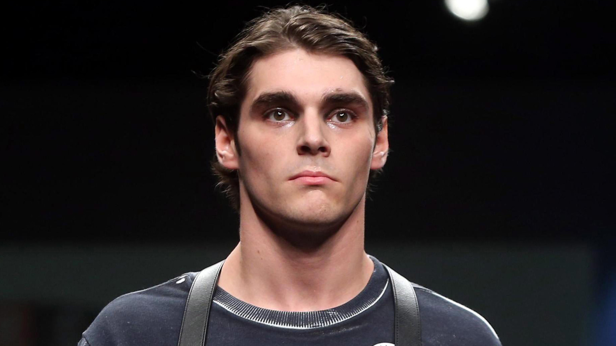 rj mitte makes his catwalk debut in milan light years away from