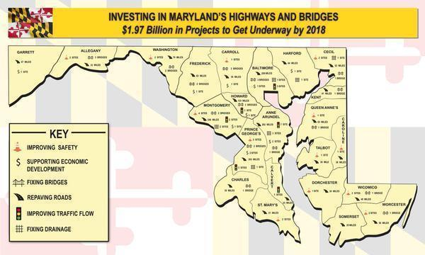 Hogan Transportation Map Cuts Baltimore Out Of Maryland - Maryland map