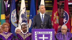Obama urges reckoning on race, leads 'Amazing Grace' in Charleston eulogy