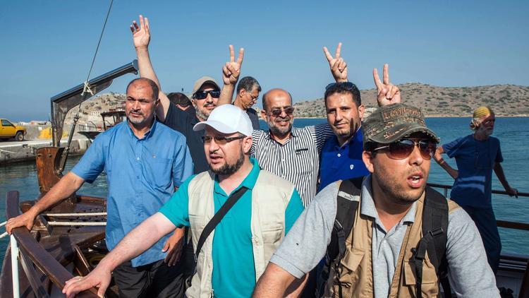 GREECE-ISRAEL-PALESTINIANS-CONFLICT-GAZA-FLOTILLA