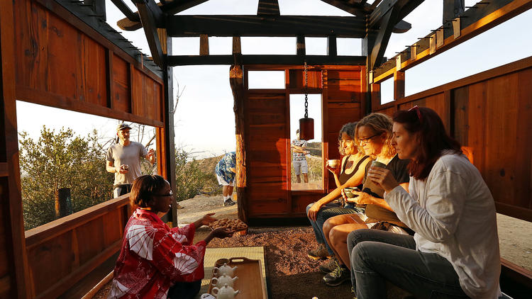A secret artist-built teahouse in Griffith Park
