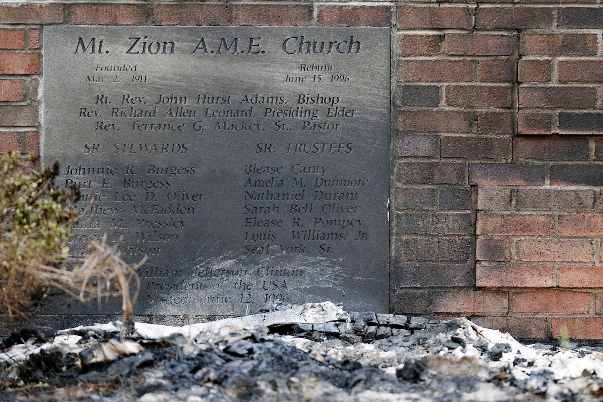 Another black church in South Carolina burns; cause unknown