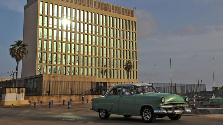 The U.S. Embassy building in Havana shown in 2015