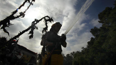 Dry conditions caused by drought spark heightened vigilance for firefighters